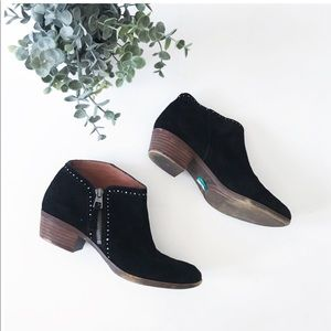 Lucky Brand black Benna ankle booties shoes 8